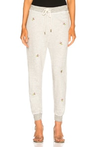 The Cropped Sweatpant in Gray,Floral