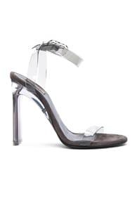 Pvc Ankle Strap Sandal 110Mm Heel In Smoke, Gray