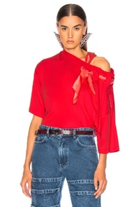 Y/project Y/PROJECT SCARF SHIRT IN RED