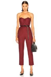 ZEYNEP ARCAY Zeynep Arcay Plaid Wool Jumpsuit In Plaid,Red
