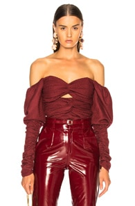 ZEYNEP ARCAY Zeynep Arcay Plaid Wool Bodysuit In Plaid,Red