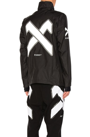 11 by Boris Bidjan Saberi Cross Print Jacket in Black