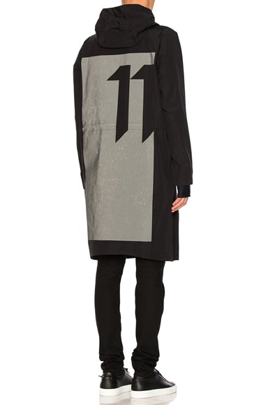 11 by Boris Bidjan Saberi Block Print Jacket in Black