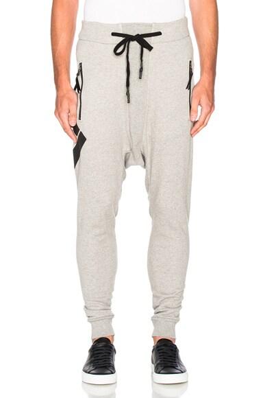 11 by Boris Bidjan Saberi Printed Sweatpants in Heather Grey