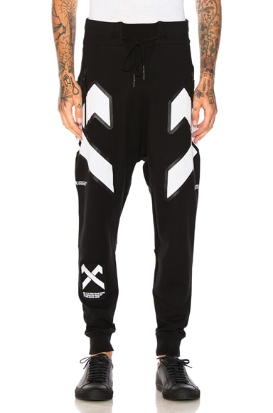 11 by Boris Bidjan Saberi Cross Print Pants in Black