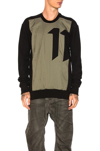 11 by Boris Bidjan Saberi Block Cut Shirt in Black