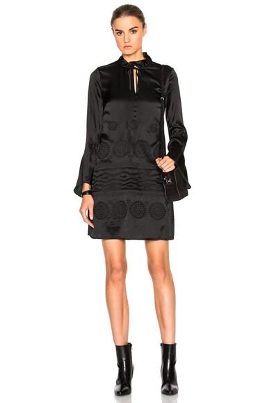 DEREK LAM 10 CROSBY High Collar Dress in Black