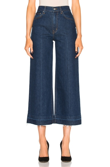 DEREK LAM 10 CROSBY Dylan Culotte in Dark Wash