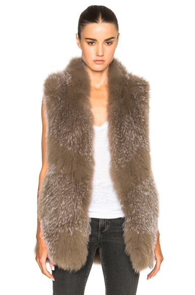 Knitted Fox Fur Vest