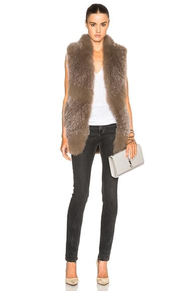 Knitted Fox Fur Vest