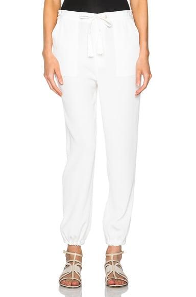 DEREK LAM 10 CROSBY Track Pants in Soft White