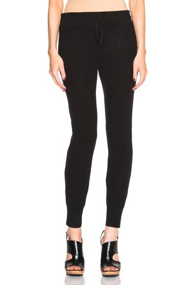 DEREK LAM 10 CROSBY Cashmere Track Pants in Black