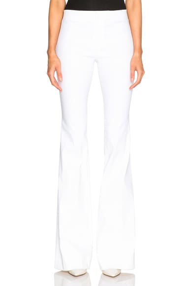 DEREK LAM 10 CROSBY Flare Pants in Soft White