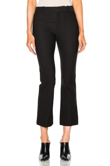 DEREK LAM 10 CROSBY Cropped Flare Pants in Black