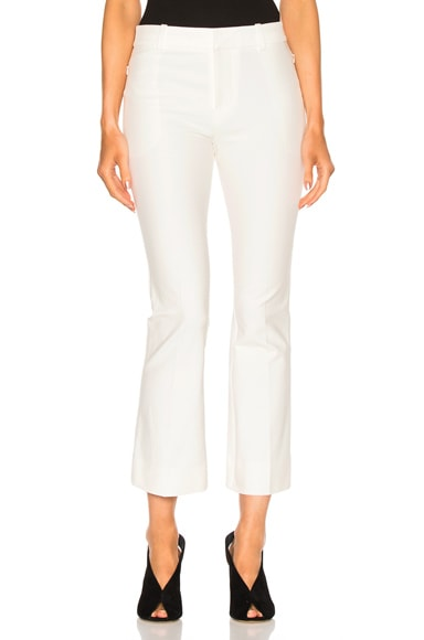 DEREK LAM 10 CROSBY Cropped Flare Pant in White