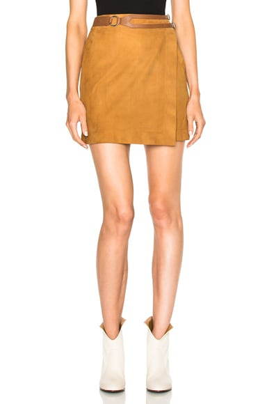 DEREK LAM 10 CROSBY Wrap Skirt in Sand