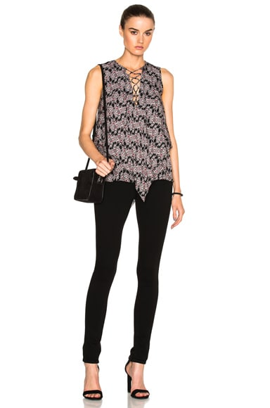 Lace Up Asymmetrical Top