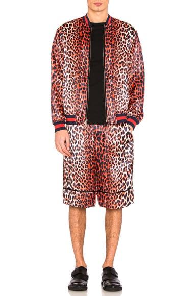 Reversible Leopard Shorts