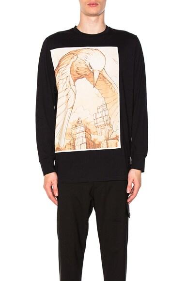 Raven Spirit Animal Long Sleeve T-Shirt