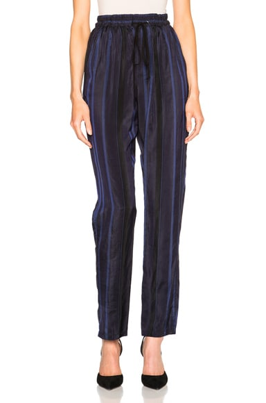 3.1 phillip lim Tapered Elastic Waist Lounge Pants in Navy