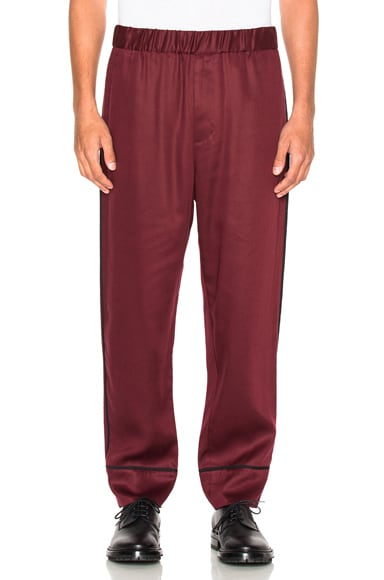 3.1 phillip lim Cropped Pajama Trousers in Burgundy