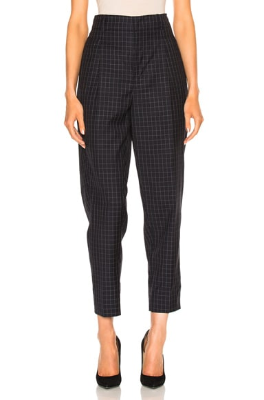 3.1 phillip lim Lightweight Wool Suiting Trousers in Grid Navy