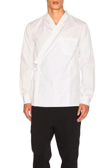 3.1 phillip lim Kimono Style Shirt in White