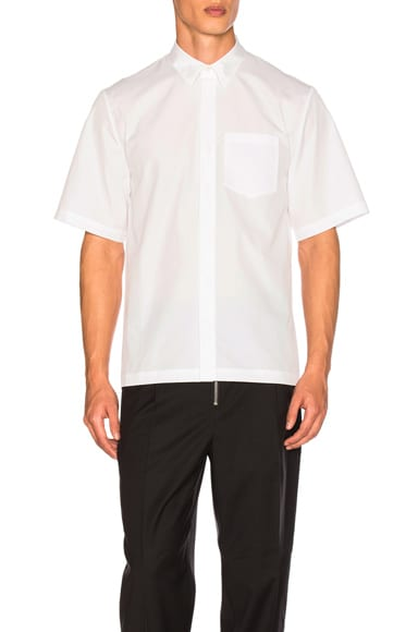3.1 phillip lim Short Sleeve Box Cut Shirt in White