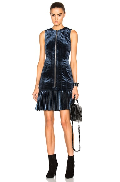 3.1 phillip lim Sunburst Pleat Hem Dress in Sapphire