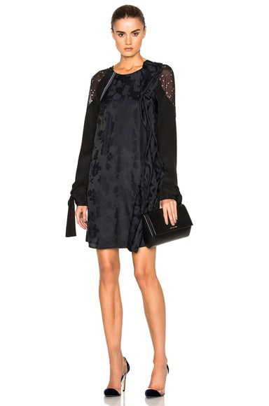 3.1 phillip lim Sleeve Ties Dress in Black & Navy