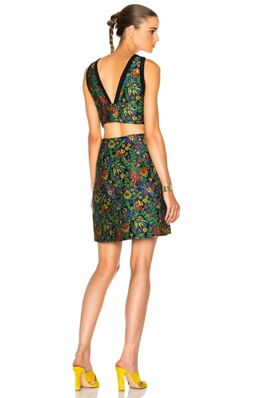3.1 phillip lim Floral Side Cut Dress in Midnight