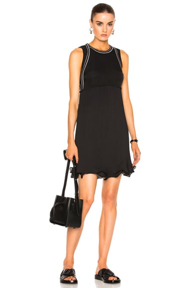 3.1 phillip lim Sleeveless Dress with Pleated skirt in Black