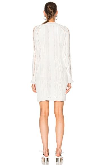 Long Sleeve Pointelle Lace Dress