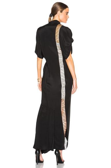 3.1 phillip lim Broken Line Panel Dress in Black