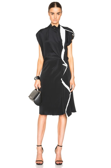 3.1 phillip lim Distorted Ruffle Dress in Black