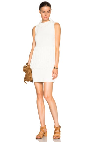 3.1 phillip lim Fringe Tank Dress in Ivory