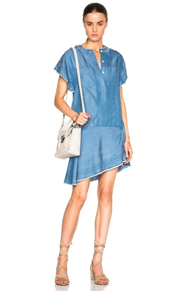 3.1 phillip lim Stonewashed Tee Dress in Medium Indigo