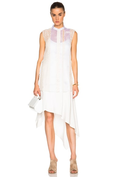 3.1 phillip lim Frayed Dress in Cream