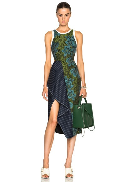 3.1 phillip lim Cascading Skirt Ruffle Dress in Leaf Hydro