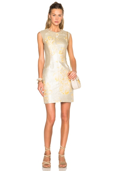3.1 phillip lim Contoured Waist Dress in Sunflower Platinum