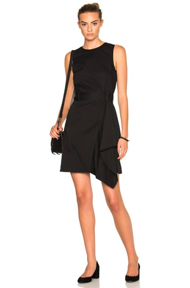 3.1 phillip lim Cascading Trench Dress in Black