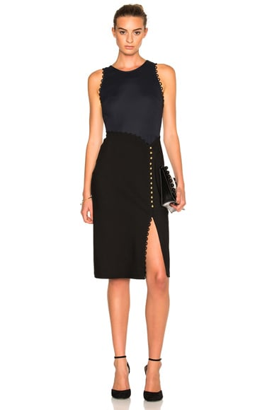 3.1 phillip lim Button Sleeveless Dress in Black