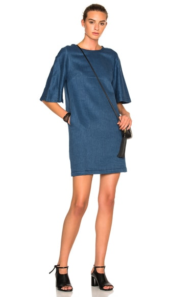 3.1 phillip lim Flare Sleeve Dress in Indigo