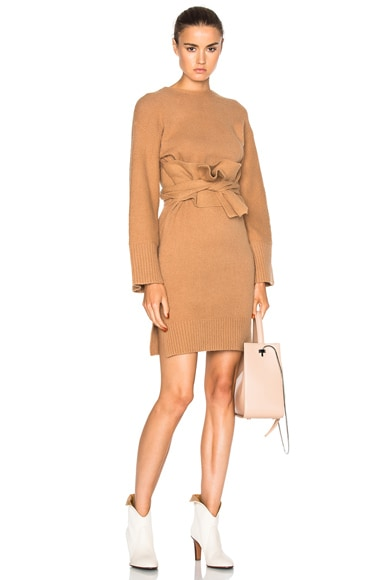 3.1 phillip lim Obi Belt Dress in Nude