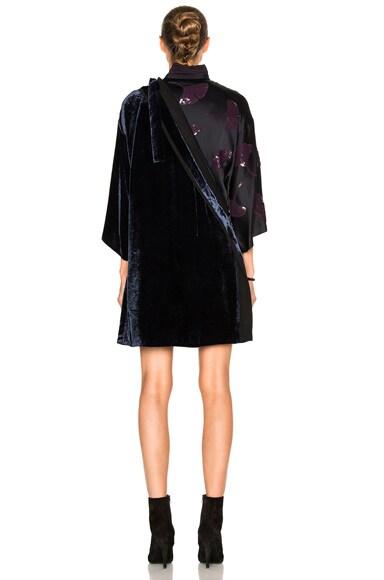 Kimono Velvet Combo Dress