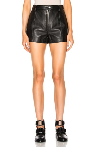 3.1 phillip lim Leather Shorts in Black