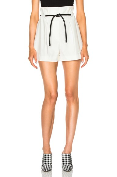 3.1 phillip lim Pleated Shorts in Antique White
