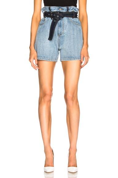 Belted Paper Bag Shorts