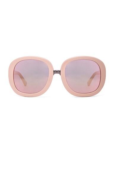 3.1 phillip lim Oval Sunglasses in Blush & Peach