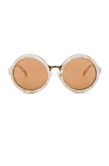 3.1 phillip lim Circle Sunglasses in Cream Pearl